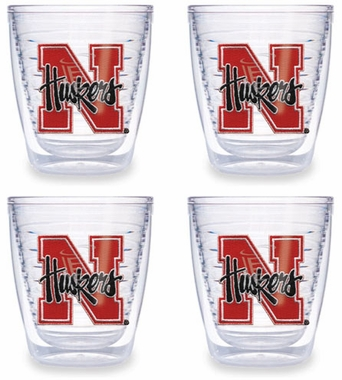 Nebraska Set of FOUR 12 oz. Tervis Tumblers