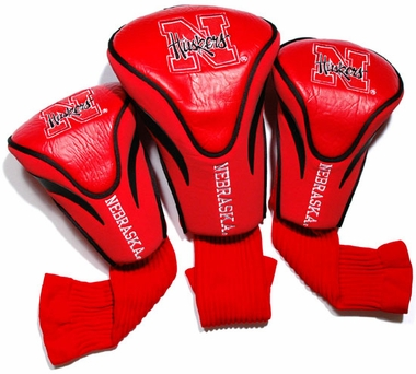 Nebraska Set of Three Contour Headcovers