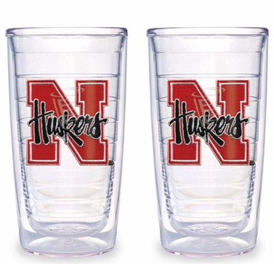Nebraska Set of TWO 16 oz. Tervis Tumblers