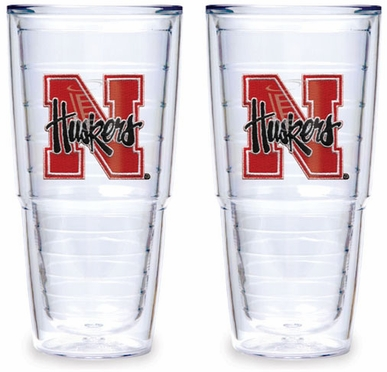 Nebraska Set of TWO 24 oz. Tervis Tumblers