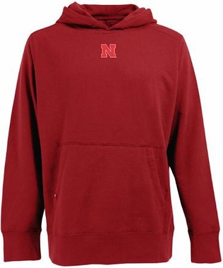 Nebraska Mens Signature Hooded Sweatshirt (Team Color: Red)