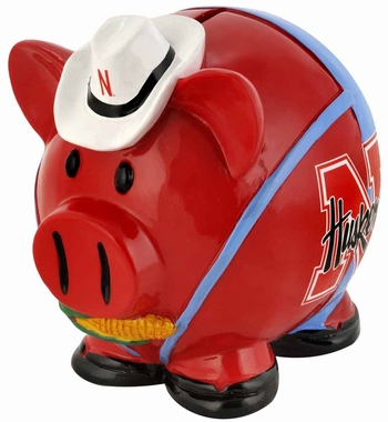 Nebraska Huskers Piggy Bank - Thematic Small