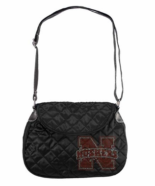 Nebraska Sport Noir Quilted Saddlebag