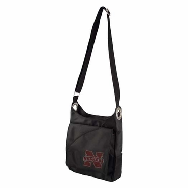 Nebraska Sport Noir Sheen Crossbody Bag