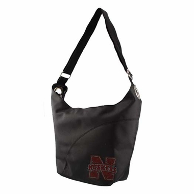 Nebraska Sport Noir Sheen Hobo Purse