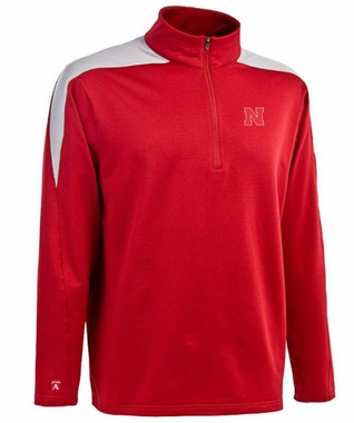 Nebraska Mens Succeed 1/4 Zip Performance Pullover (Team Color: Red)