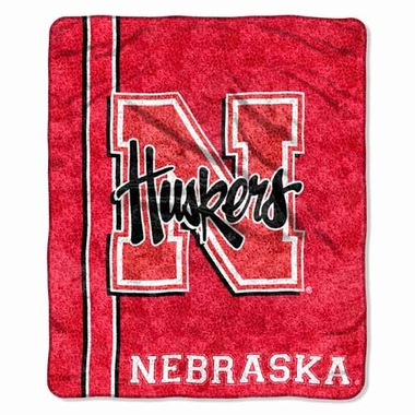 Nebraska Super-Soft Sherpa Blanket