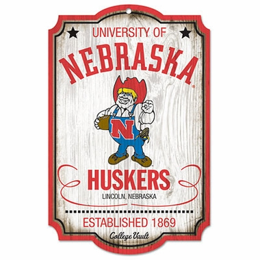 Nebraska Throwback Wood Sign