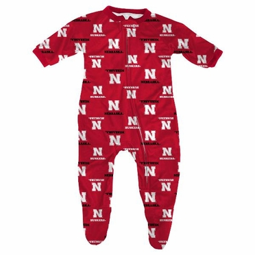 Nebraska Toddler Zip Raglan Coverall Sleeper