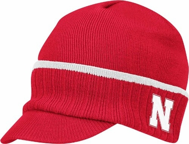 Nebraska Visor Knit Hat