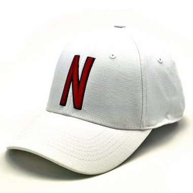 Nebraska White Premium FlexFit Baseball Hat