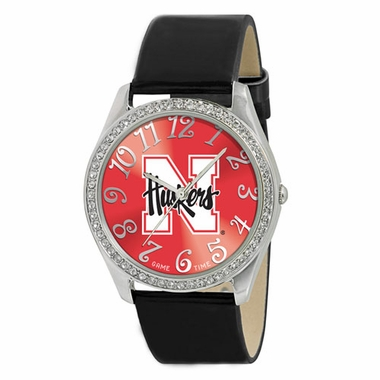 Nebraska Women's Glitz Watch