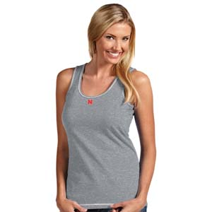 Nebraska Womens Sport Tank Top (Color: Gray) - Large