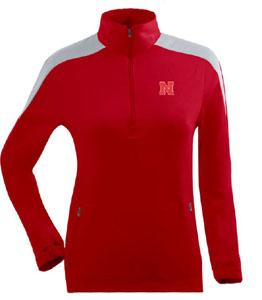 Nebraska Womens Succeed 1/4 Zip Performance Pullover (Team Color: Red) - X-Large