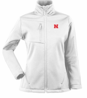 Nebraska Womens Traverse Jacket (Color: White)