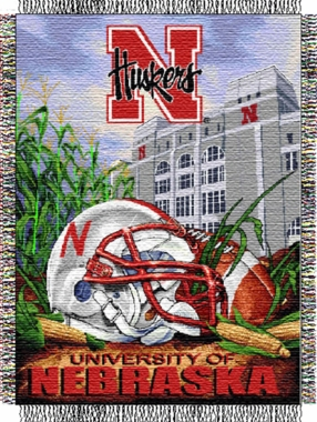 Nebraska Woven Tapestry Throw Blanket