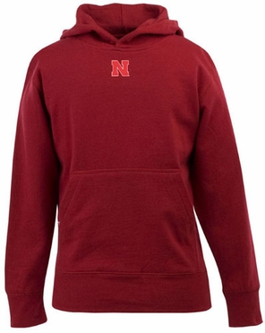 Nebraska YOUTH Boys Signature Hooded Sweatshirt (Team Color: Red)