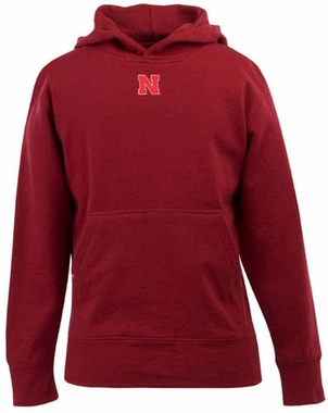 Nebraska YOUTH Boys Signature Hooded Sweatshirt (Color: Red)
