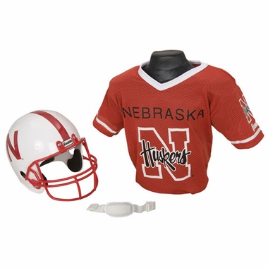 Nebraska Youth Helmet and Jersey Set