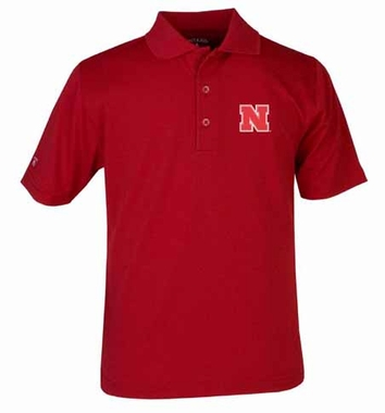Nebraska YOUTH Unisex Pique Polo Shirt (Team Color: Red)