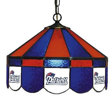 New England Patriots 16 Inch Diameter Stained Glass Pub Light
