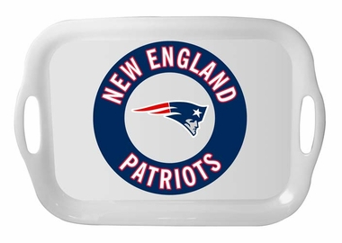 New England Patriots 16 Inch Melamine Serving Tray
