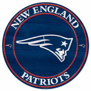 New England Patriots 19.75 Inch Wood Sign