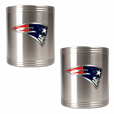 New England Patriots 2 Can Holder Set