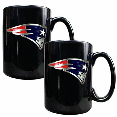 New England Patriots 2 Piece Coffee Mug Set