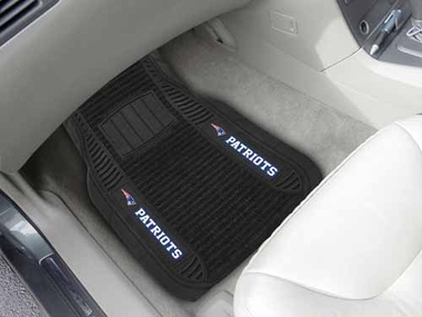 New England Patriots 2 Piece Heavy Duty DELUXE Vinyl Car Mats