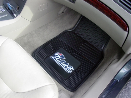 New England Patriots 2 Piece Heavy Duty Vinyl Car Mats