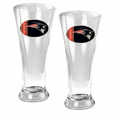 New England Patriots 2 Piece Pilsner Glass Set
