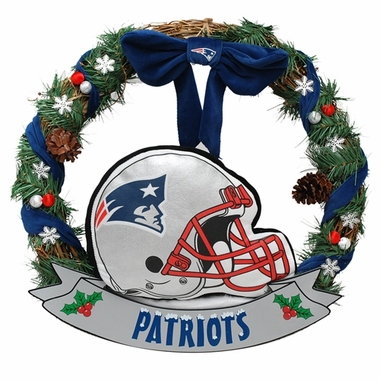 "New England Patriots 20"" Helmet Door Wreath"