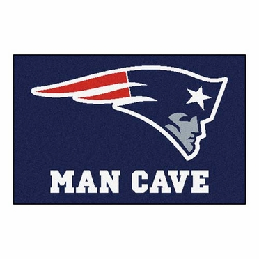 New England Patriots 20 x 30 Man Cave Rug