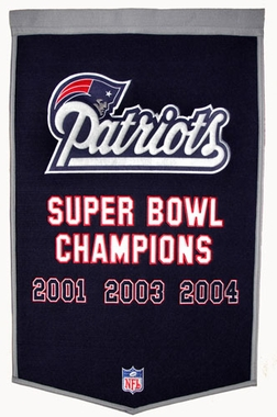 "New England Patriots 24""x36"" Dynasty Wool Banner"