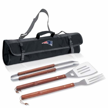 New England Patriots 3-pc BBQ Tote (Black)