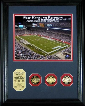 New England Patriots New England Patriots 3 Time Super Bowl Champs Photomint