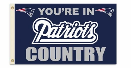 New England Patriots 3' x 5' Flag (Country) (F)