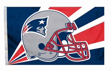 New England Patriots 3'x5' Helmet Design Flag