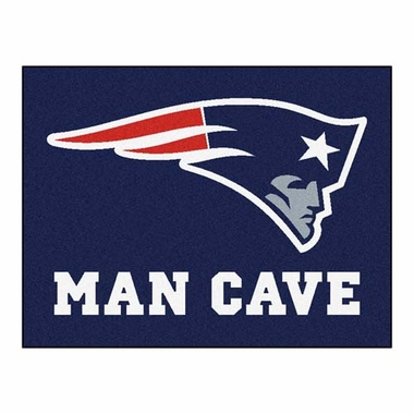 New England Patriots 34 x 45 Man Cave Rug