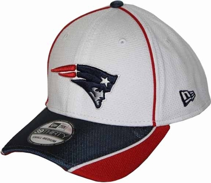 New England Patriots 39THIRTY Abrasion Plus Fitted Hat - White