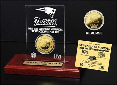 New England Patriots New England Patriots 3x SB Champs Etched Acrylic