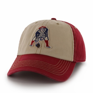 New England Patriots 47 Brand NFL Yosemite Vintage Wash Adjustable Hat - Red
