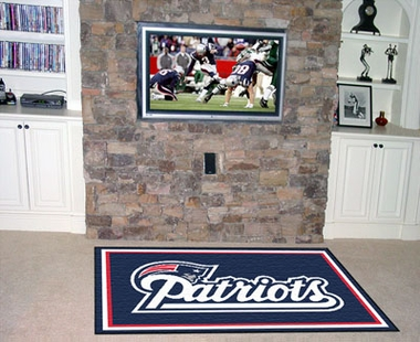 New England Patriots 5 Foot x 8 Foot Rug