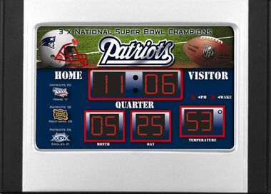 New England Patriots Alarm Clock Desk Scoreboard