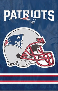 New England Patriots Applique Banner Flag