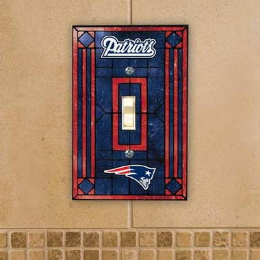 New England Patriots Art Glass Lightswitch Cover