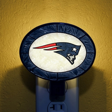 New England Patriots Art Glass Night Light