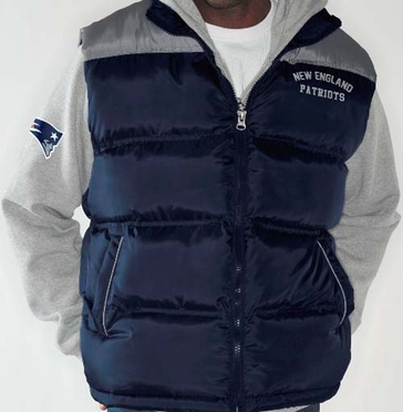 "New England Patriots ""Astroturf"" Systems 3-in-1 Heavyweight Vest Jacket"