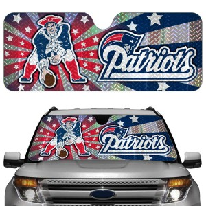 New England Patriots Auto Sun Shade